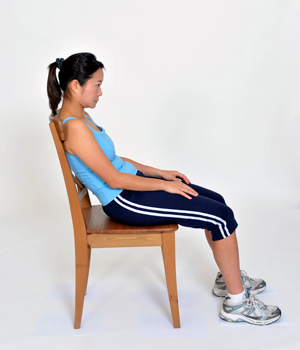 Bad Posture - 1. Slouched back  2. Gap between lower back and chair  3. Neck forward